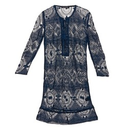 Clothing Women Short Dresses Antik Batik LEANE Marine