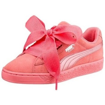 Shoes Children Low top trainers Puma Suede Heart Snk JR Pink