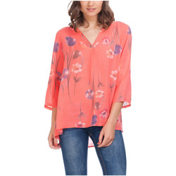 Clothing Women Tops / Blouses Laura Moretti Blouse NINON Red Woman Autumn/Winter Collection Red