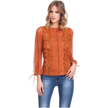 Clothing Women Tops / Blouses Laura Moretti Long sleeve top SOLANGE Brick red F Brick red