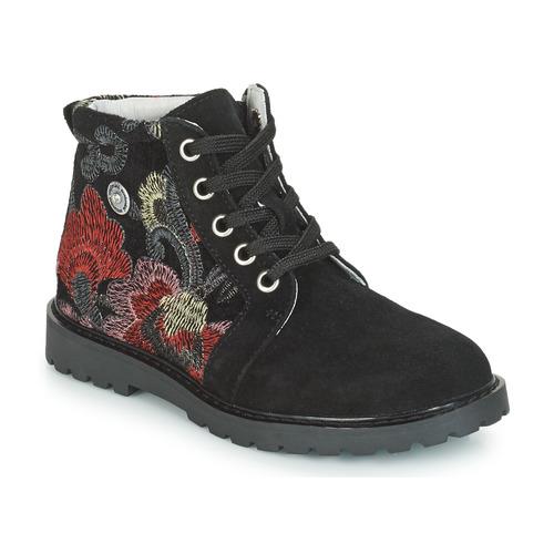 Shoes Girl Mid boots Catimini CAHAUT Black