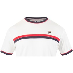 Clothing Men short-sleeved t-shirts Fila Vintage Men's Razee Stripe T-Shirt, White white
