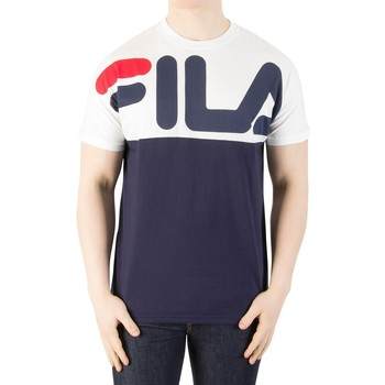 Clothing Men short-sleeved t-shirts Fila Vintage Men's Lenox Cut And Sew T-Shirt, Blue blue