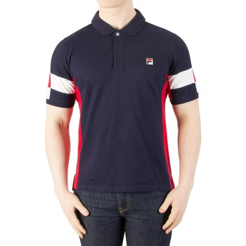 Clothing Men short-sleeved polo shirts Fila Vintage Men's Prago Panel Polo Shirt, Blue blue