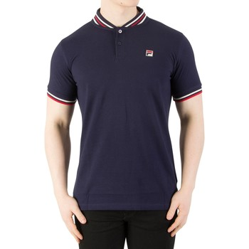 Clothing Men short-sleeved polo shirts Fila Vintage Men's Skipper Baseball Collar Polo Shirt, Blue blue