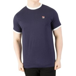 Clothing Men short-sleeved t-shirts Fila Vintage Men's Marconi T-Shirt, Blue blue