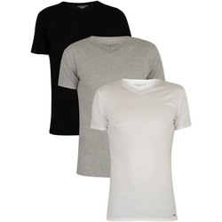 Clothing Men Short-sleeved t-shirts Tommy Hilfiger 3 Pack Premium Essentials V-Neck T-Shirts multicoloured
