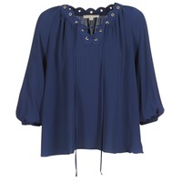 Clothing Women Tops / Blouses MICHAEL Michael Kors SCALLP GRMT CHAIN TOP Marine