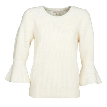 Clothing Women jumpers MICHAEL Michael Kors SHAKER ROUND SLV White