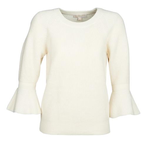 Clothing Women jumpers MICHAEL Michael Kors SHAKER ROUND SLV White