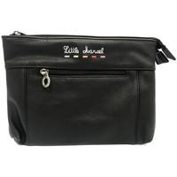 Bags Women Pouches / Clutches Little Marcel Pochette ID16-LM-BLACK Black