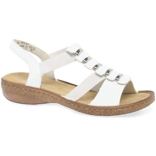 Shoes Women Sandals Rieker Trim Womens Sling Back Sandals white