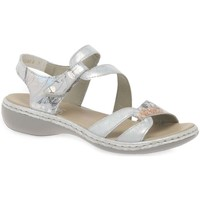 Shoes Women Sandals Rieker Orbit Womens Casual Sandals Silver