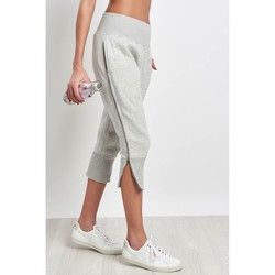 Clothing Women Cropped trousers Adidas By Stella Mccartney ESS 3/4 Sweatpant Marble Grey Grey