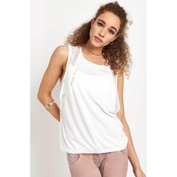 Clothing Women Tops / Sleeveless T-shirts Fp Movement Activist Mesh Tank White White