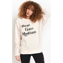 Clothing Women sweaters Spiritual Gangster Meditate Old School Pullover Pink