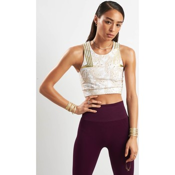 Clothing Women Sport bras Lucas Hugh Goldleaf Crop White