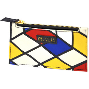 Bags Women Wallets Atelier Caesars Card holder SPICY MONDRIAN Blue / Multicolor Blue