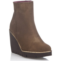 Shoes Women Boots Laura Moretti Ankel-Boots FERNANDA Light brown F Light brown