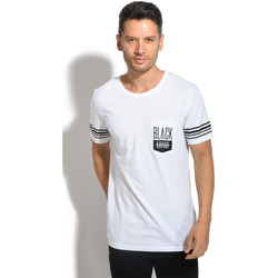 Clothing Men T-shirts & Polo shirts Black Kaviar T-Shirt GENOVA White / Black White
