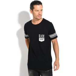 Clothing Men T-shirts & Polo shirts Black Kaviar T-Shirt GENOVA Black / White Black