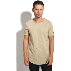 Clothing Men short-sleeved t-shirts Black Kaviar T-Shirt KITARO Beige Man Autumn/Winter Collection Beige