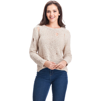 Clothing Women jumpers Laura Moretti Pullover ALDA Beige Woman Autumn/Winter Collection Beige