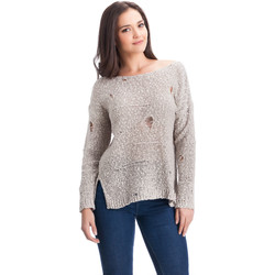Clothing Women jumpers Laura Moretti Pullover AMARANTA Grey Woman Autumn/Winter Collection Grey