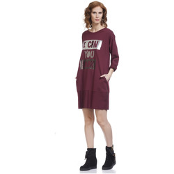 Clothing Women Short Dresses Tantra Dress BRIDGET Burgundy Woman Autumn/Winter Collection Burgundy