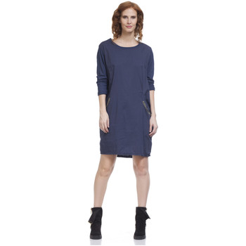 Clothing Women Short Dresses Tantra Dress TESS Navy blue Woman Autumn/Winter Collection Navy blue