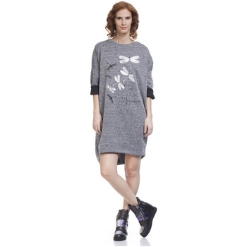 Clothing Women Short Dresses Tantra Dress MARION Grey F Grey