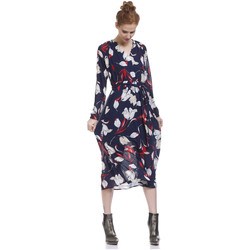 Clothing Women Long Dresses Tantra Dress ENAVY Navy blue Woman Autumn/Winter Collection Navy blue