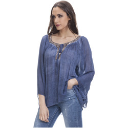 Clothing Women Tops / Blouses Tantra Blouse LOUISE Navy blue F Navy blue