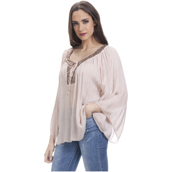 Clothing Women Tops / Blouses Tantra Blouse LOUISE Pink F Pink