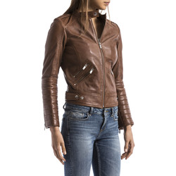 Clothing Women Leather jackets / Imitation leather Blue Wellford Leather jacket SANAGA Camel Woman Autumn/Winter Collection Camel