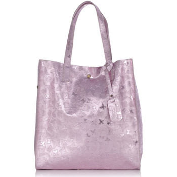Bags Women Shopping Bags / Baskets Laura Moretti Handbag ANNE Pink F Pink