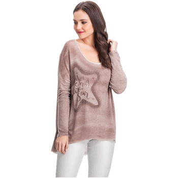 Clothing Women jumpers Laura Moretti Pullover MILLER Pink Woman Autumn/Winter Collection Pink