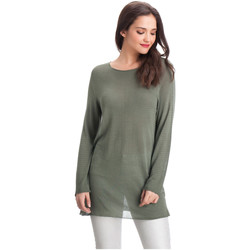 Clothing Women Tops / Blouses Laura Moretti Pullover DENY Green Woman Autumn/Winter Collection Green