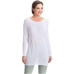 Clothing Women Tops / Blouses Laura Moretti Pullover DENY White Woman Autumn/Winter Collection White