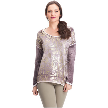 Clothing Women Tops / Blouses Laura Moretti Long sleeve top KYSHIA Pink F Pink