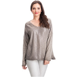 Clothing Women Tops / Blouses Laura Moretti Pullover DAPHNY Taupe Woman Autumn/Winter Collection Taupe