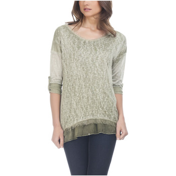 Clothing Women Tops / Blouses Laura Moretti Long sleeve top NAYLA Green F Green
