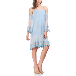 Clothing Women Short Dresses Laura Moretti Dress NIRVANA Sky blue Woman Autumn/Winter Collection Sky blue