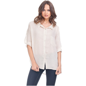 Clothing Women Shirts Laura Moretti Shirt ZELY Beige Woman Autumn/Winter Collection Beige