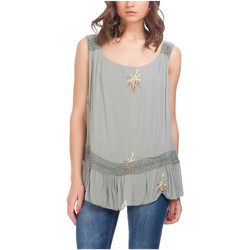Clothing Women Tops / Blouses Laura Moretti Top YAEL Green Woman Autumn/Winter Collection Green