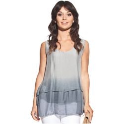Clothing Women Tops / Blouses Laura Moretti Top PENIELLE Grey Woman Autumn/Winter Collection Grey