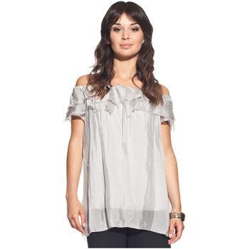 Clothing Women Tops / Blouses Laura Moretti Short sleeve top PAYJE Grey F Grey