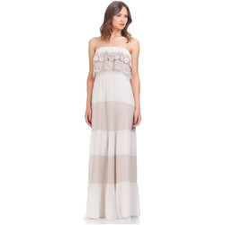 Clothing Women Long Dresses Laura Moretti Dress SHARON Beige F Beige