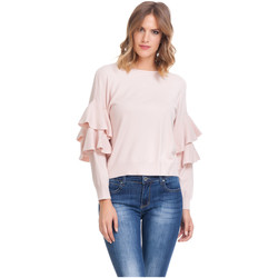 Clothing Women Tops / Blouses Laura Moretti Long sleeve top SIERA Pink Woman Autumn/Winter Collection Pink