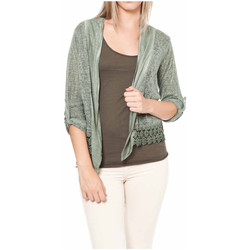 Clothing Women Jackets / Cardigans Laura Moretti Cardigan ANAIS Green Woman Autumn/Winter Collection Green